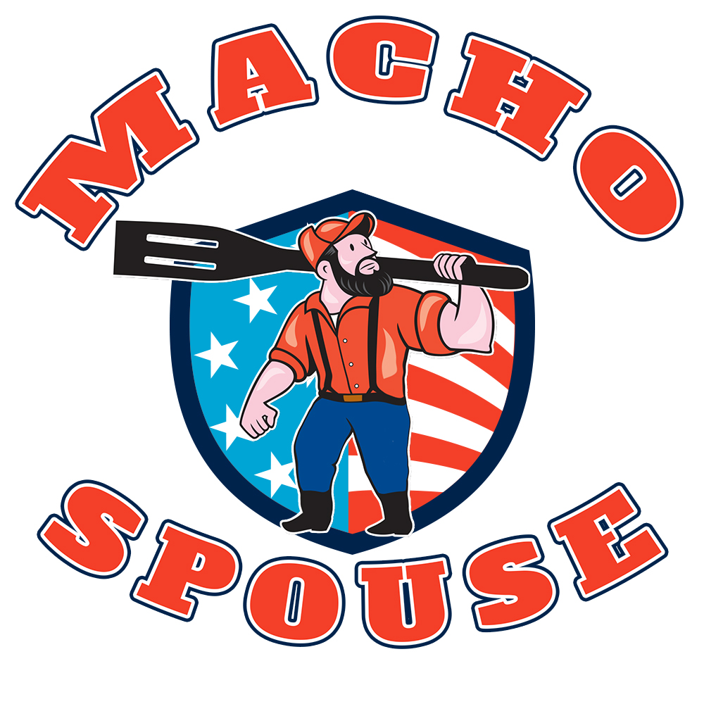 Macho Spouse Civilian Male Military Spouse Community Logo