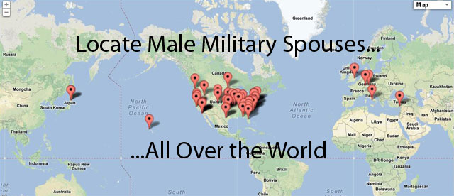 Macho Spouse Map - Locate male military spouses all over the world