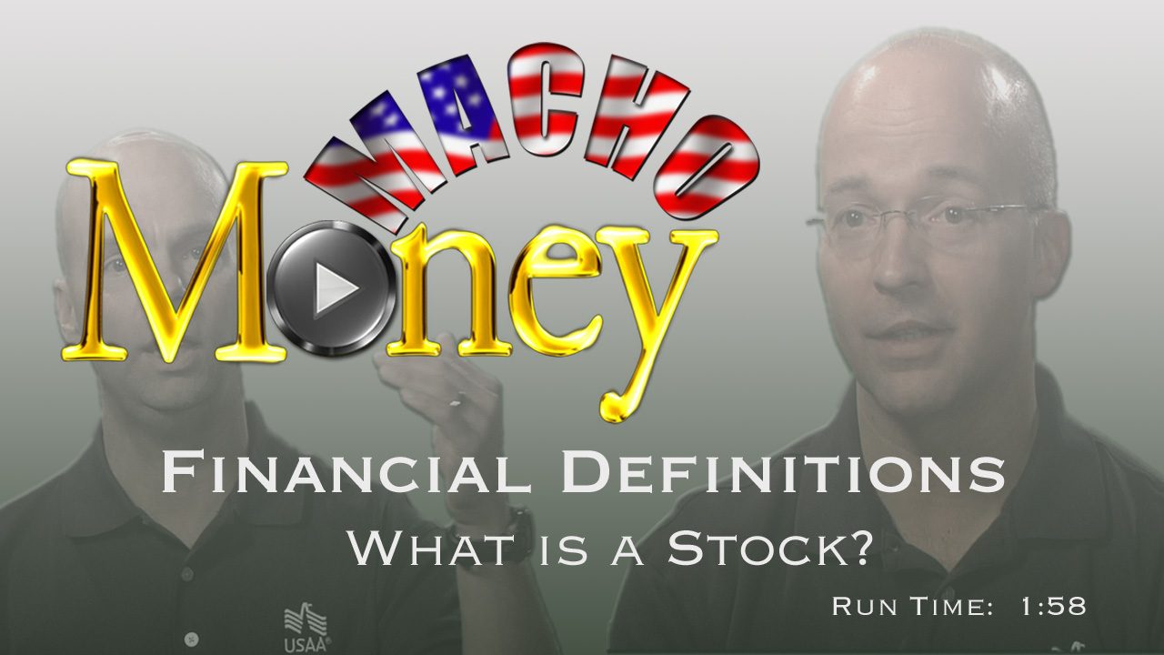 image for Macho Money Definitions - What Is A Stock?